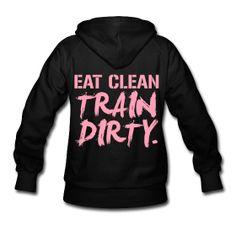 (Back Print) Train dirty womens hoodie ~ 777