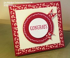 Congrats Card for Crazy Crafters Team Project Highlight