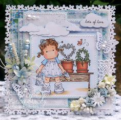 Watercan Tilda, Sweet Rainbow Collect from Magnolia stamps