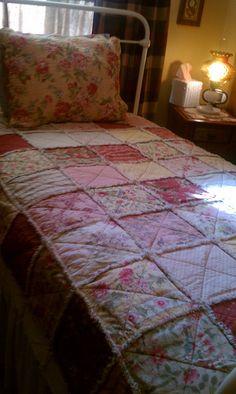 Moda Rag Quilt Twin size #sewshabbydesigns