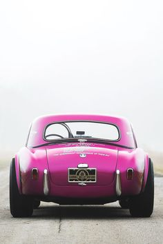 "mithatc: ""thevisualvamp: "" fullthrottleauto: "" Something for my female followers 1963 Shelby Cobra Coupe Dragonsnake (CSX 2093) (#FTA) "" Men like pink too "" """