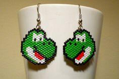 Yoshi Mario Nintendo Video Game Cosplay Peyote Earrings on Etsy, $20.00