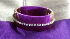 purple gold bangle