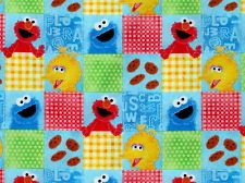 SESAME STREET BIG BIRD ELMO COOKIE MONSTER MUPPET 100% COTTON FABRIC YARDAGE