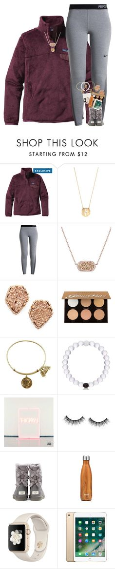 """""""Don't know how to escape from this prison ."""" by supremegrier ❤ liked on Polyvore featuring Patagonia, BaubleBar, NIKE, Kendra Scott, Anastasia Beverly Hills, URP Music, tarte, UGG Australia and S'well"""