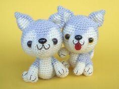 Etsy の Siberian Husky Puppy PDF Crochet Pattern by jaravee