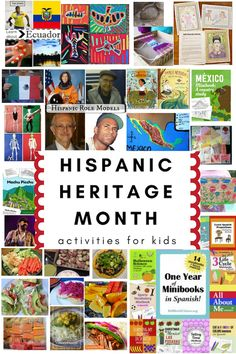 A huge collection of activities for kids to celebrate Hispanic Heritage Month, and learn all about the traditions and cultures of Latin America! Hispanic History Month, Hispanic Culture, Hispanic Heritage Month, Elementary Spanish, Teaching Spanish, Spanish Classroom, Art Classroom, Classroom Ideas, Spanish Heritage