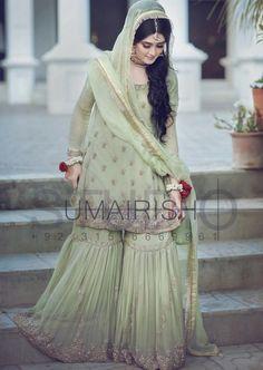 Gorgeous Rubab on her Nikkah. Pakistani Formal Dresses, Wedding Dresses For Girls, Pakistani Dress Design, Party Wear Dresses, Pakistani Outfits, Indian Dresses, Weeding Dresses, Dulhan Dress, Nikkah Dress