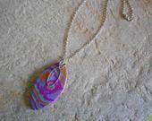 collier multicolore pâte fimo polymère : Collier par elisabijoux