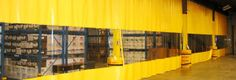 A single wall industrial curtain is widely used in warehouse and distribution centers to separate Industrial Curtains, Pharmaceutical Manufacturing, Curtain Divider, Movable Walls, Curtain Material, Pvc Vinyl, Panel Curtains, Beams