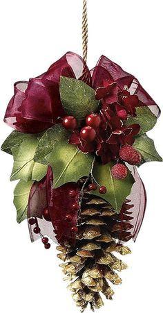 Decorated pine cone