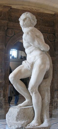 The Rebellious Slave by Michaelangelo. Exhibited at the Louvre next to the Dying Slave