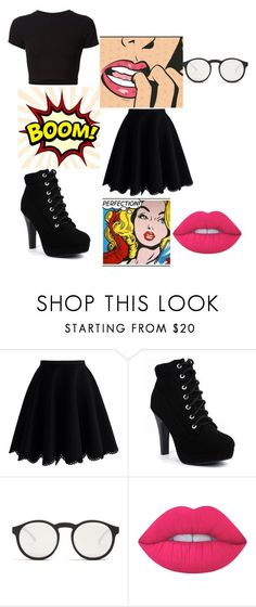 """Untitled"" by thenerdyfairy on Polyvore featuring Getting Back To Square One, Chicwish, Le Specs and Lime Crime"
