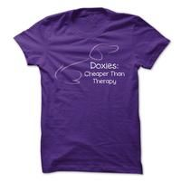 Doxies: Cheaper Than Therapy - http://www.cheaptshirts.biz/doxies-cheaper-than-therapy-2/