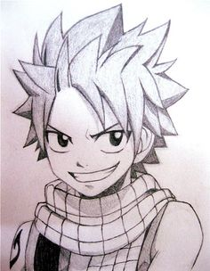 "Manga is the world famous style of drawing Japanese cartoons. It is also more popularly known as ""Anime"". This style of drawing has captivated a lot of Anime fa Arte Fairy Tail, Natsu Fairy Tail, Fairy Tail Guild, Fairy Tail Anime, Naruto Drawings, Anime Drawings Sketches, Anime Sketch, Cool Drawings, Natsu Drawing"