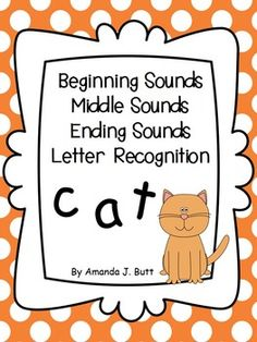 Beginning, Middle, Ending Sounds; Letter Recognition; Flashcards; Clothespin Cards; Kindergarten; First Grade; Special Education; Autism; Can use some activities for Center Activities!