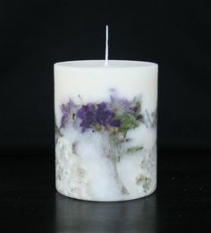 Flower candle, handmade candle, botanical candle, soy candle, pillar candle, gift ideas, home decor by Lillinflame on Etsy https://www.etsy.com/listing/207968709/flower-candle-handmade-candle-botanical