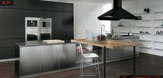 black kitchen cabinets design ideas modern small kitchen design ideas gallery kitchen design ideas #Kitchen