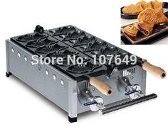 203.00$  Buy here - http://alirvp.worldwells.pw/go.php?t=32710453166 - Hot Sale 6pcs Commercial Use Non-stick LPG Gas Taiyaki Machine Maker Baker Iron 203.00$