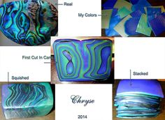 FREE TUTORIAL: Chryse's Faux Abalone Tutorial, made from polymer clay