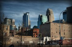 Downtown Minneapolis in the morning.