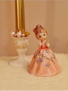 Lovely Josef Originals George Good November Girl Bell Figurine. Mint condition; a rare collectible