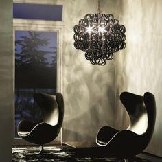 Glasswork / Luz / Luminario by Vistosi Italia  / Giogali SP 3E Pendant light, black