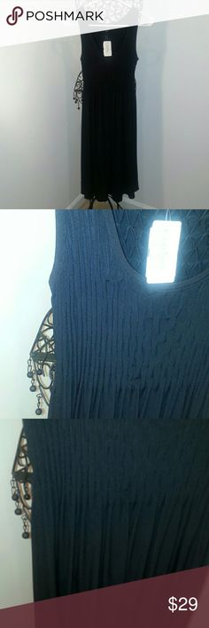 Saks fifth avenue black dress Long black dress size 8.  Saks fifth Ave. A little pass knee. Dresses Maxi
