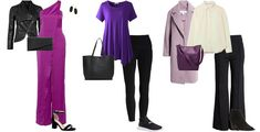 purple and black outfits   40plusstyle.com