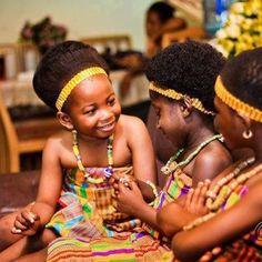 Children in Ghana wearing the Kente cloth.