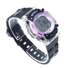 Man black wrist watch LED Electronic Sports Watch