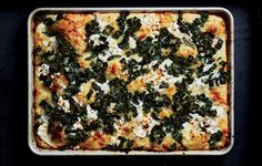 Spicy Tuscan Kale and Ricotta Grandma Pie - Feel free to substitute other types of kale, such as curly or Red Russian in this pizza, but make sure to pre-dress and massage the leaves. Swiss Chard Recipes, Kale Recipes, Pizza Recipes, Cooking Recipes, Kale Pie Recipe, Vegetable Recipes, Dairy Recipes, Veggie Meals, Healthy Recipes