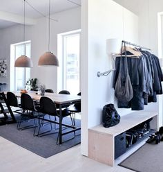 Scandinavian style // Copenhagen loft in black, grey and blue Home Interior, Interior Architecture, Interior Design, Loft, My New Room, Home Decor Inspiration, Home And Living, Living Spaces, Living Room