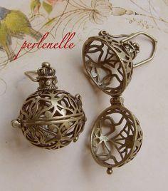 2 Wish Boxen Wunschkugeln Engelrufer bronzefarben von perlenelle auf DaWanda.com
