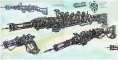Fallout 3 weapons concept art                              …