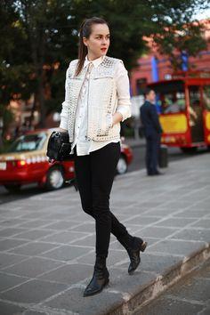 Vest: H Trend  |  Shirt: ZARA  |  Jeans: DL1961  |  Boots: Alexander Wang  |  Bag: Proenza Schouler