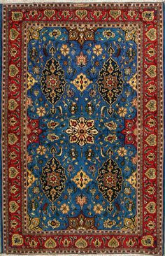 "Buy Qum Persian Rug 4' 5"" x 6' 7"", Authentic Qum Handmade Rug"
