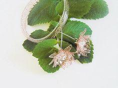 Eco friendly earrings bracelet nature jewelry flower