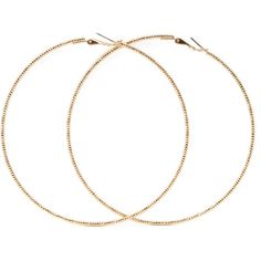 FOREVER 21 Oversized Etched Hoop Earrings ($1.90) ❤ liked on Polyvore featuring jewelry, earrings, accessories, extra, gold, forever 21, gold earrings, yellow gold hoop earrings, polish jewelry and forever 21 jewelry