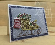 Sleigh Full | Stampin\' Up! | Hang Your Stocking | Santa\'s Sleigh #literallymyjoy #christmas #holiday #presents #teddybears #gifts #sleigh #snow #NaturallyEclecticDSP #20172018AnnualCatalog