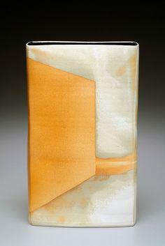 Maren Kloppmann - Envelope Vase (Porcelain - thrown & altered)