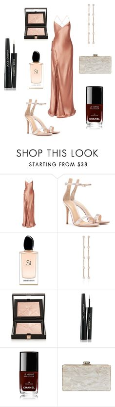 """""""The night of the nights"""" by jullan-h ❤ liked on Polyvore featuring Mason by Michelle Mason, Gianvito Rossi, Giorgio Armani, Anita Ko, Givenchy, Dolce&Gabbana, Chanel and Edie Parker"""