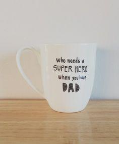 Dad superhero mug by rowemade