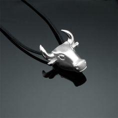Taurus Silver Necklace - Shop OnLine! #taurusnecklace #bullnecklace #animalnecklace #taurusjewelry #bullpendant #animalnecklace #tauruspendant #animaljewelry #silvertaurusgift #silvertaurus #silverbull #animaljewellery #tauruscharm
