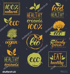 stock-vector-vector-eco-organic-bio-logos-handwritten-healthy-eat-retro-logo-set-vegan-organic-healthy-367456751.jpg (1500×1600)