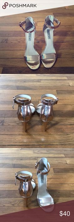 Steve Madden Heels -Rose Gold -4inches -very comfortable  -size 8.5 -Steve Madden Steve Madden Shoes Heels