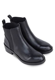STEVE MADDEN SHRILL Leather Ankle Boots SHRILL皮革踝靴