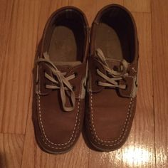 Brown/Tan leather loafers. Brown/Tan leather loafers by Margarittaville. Good condition. Margarittaville Shoes Flats & Loafers