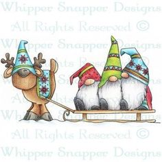 christmas drawings Cute card idea So will ich auch zeichnen knnen Christmas Rock, Christmas Gnome, Christmas Projects, Winter Christmas, Holiday Crafts, Christmas Ornaments, Fall Winter, Watercolor Christmas Cards, Christmas Drawing