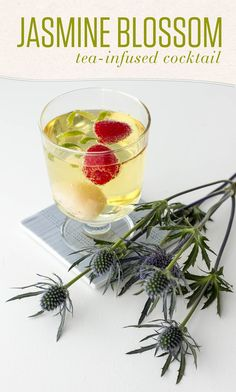 Blossoming Jasmine Green Tea meets lychee in this fragrant tea-infused cocktail.